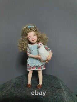 Poupée Ooak Maison De Poupée 112, Miniature, Poupée D'artiste, Fait À La Main