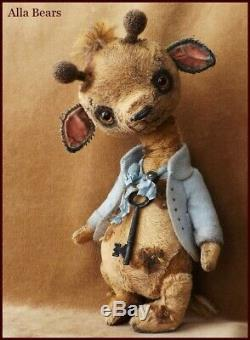 Prêt À L'expédition Artiste Bears Alla Antique Vintage Girafe Jouet Poupée D'art Du Japon Animé