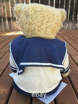 Rare Jane Humme Mohair Artiste Teddy Bears Hendrix Sailor Navy Vintage Ooak 19