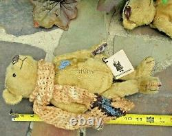 Rare Marsha Dehaven Artiste Teddy Bear Paire Patch & Cornelius Ltd Ed Witney Tag