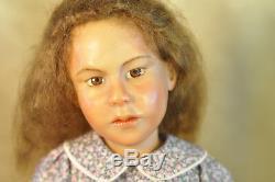 Rare Ooak Artiste Carol Trobe 21 Girl In Violet Dress & Red Shoes Doll 1992 Vgc