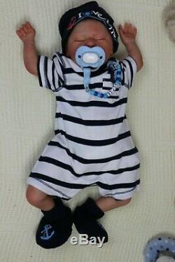 Rare Réincarné Baby Boy Shylah Tuzio Ross 18 Par L'artiste Marie Pvhg Avec Coa