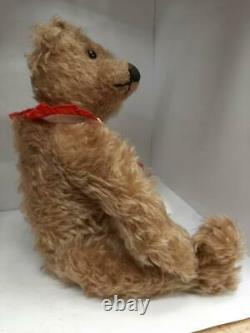 Rare Vintage 14 Mohair Teddy Bear Par L'artiste Carolyn Jacobsen, Tête De Nodder