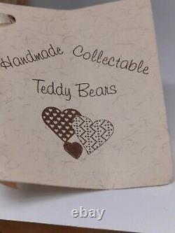 Rare Vintage 8 Ooak Mohair Teddy Bear Par L'artiste Sharon Barron
