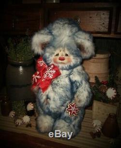 Ratties Patti 14 Ours D'hiver Flocon De Neige De Noël Ooak Cadeau Doll Artiste Sikes