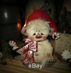 Ratties Patti 7 Eggnog Oursons De Noël Ooak Doll Cadeau Artiste Sikes