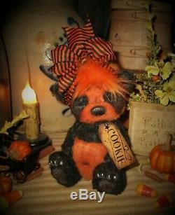 Ratties Patti 7 Ours Panda Citrouille D'halloween Automne Ooak Artiste Sikes Doll