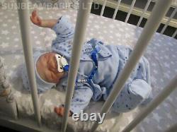 Reborn Baby Boy 5lbs 18 Floppy Poupée Lifeelike Par Artiste Dan / Sunbeambabies Sphsp