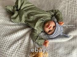 Reborn Baby Boy Doll Alfie 20 5lb (aka Aofie) Par Uk Artist Sara Jeffery