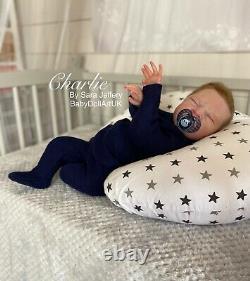 Reborn Baby Boy Doll Charlie Ltd Coa 155/500 Fussy De L'artiste Britannique Sara Jeffery