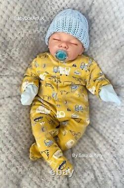 Reborn Baby Boy Doll, Sleeping Baby Jax Par Uk Artist Sara Jeffery Babydollartuk