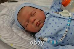 Reborn Baby Doll Carter 7lbs Child Safe, Full Limbs, Artiste 9 Ans Sunbeambabies