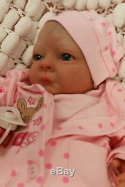 Reborn Baby Doll Preemie 16 Précoce Bean Par L'artiste De Marie 9yrs Sunbeambies