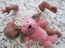 Reborn Baby Doll Preemie 16 Précoce Megan Par L'artiste De Dan 6ans Sunbeambies