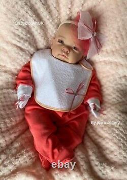 Reborn Baby Girl Doll Chloe, Bébé Nouveau-né Par Uk Artist Babydollartuk