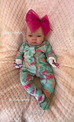 Reborn Baby Girl Doll Erin, Belle Petite Fille 18 Uk Artist Babydollartuk