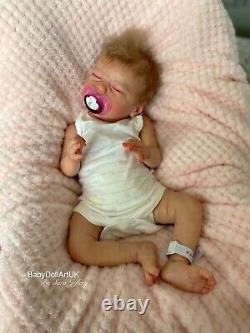 Reborn Baby Girl Doll Jasmine Ltd Coa 192/450 Par Sara Jeffery, Artiste Britannique