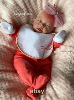 Reborn Baby Girl Doll Mia, Bébé Endormi Par Uk Artist #babydollartuk Sara