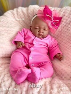 Reborn Baby Girl Doll Paige, Poupée Renaître Ethnique Par L'artiste Britannique Babydollartuk