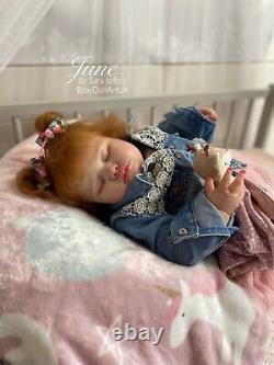 Reborn Baby Girl Doll Toddler Juin (coa Large 7 Mois 11lb 26) Par Artiste Britannique
