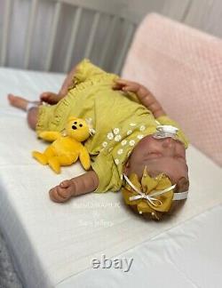 Reborn Baby Girl Doll Willow (willa De Cassie Brace) Coa 141/1800 De L'artiste Britannique