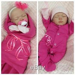 Réincarné Baby Girl Doll, 18 Sommeil De Bébé Fille Sweet Pea Par Uk Artiste Handmade