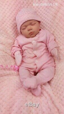 Réincarné Baby Girl Doll, Dormir Petite Fille Rosie 18 Pouces Par Uk Artiste Handmade