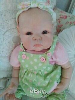Réincarné Baby Girl Doll Paris Artiste Sculpt Par Adrie Stoete