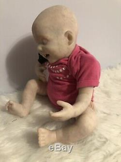 Réincarné Fantaisie Albino Vampire Bébé 18 Ooak Punkin De Bb Artiste Ginger Lynn