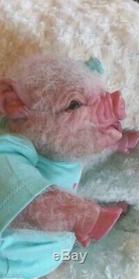 Réincarné Rose Porcinet Baby Doll Piggy Artiste Hybride Alternative Pig Animale