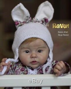 Renaître Baby Doll Raven Par Ping Lau Par Russe Prototype Artiste De Haute Qualité