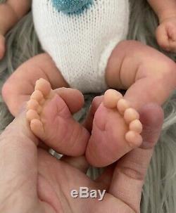Silicone Baby Doll Platinum Mélange Peint Par L'artiste Primé