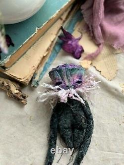 Teddy Handmade Intérieur Jouet Cadeau Collectionnable Fleur Boîte De Lotus Poupée Ooak Plant