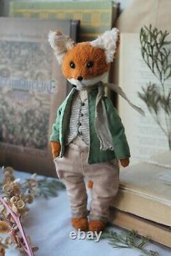 Teddy Handmade Interior Toy Collectable Gift Animal Doll Ooak Fox Décor