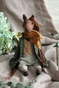 Teddy Handmade Interior Toy Collectable Gift Animal Ooak Horse Coat Doll Décor