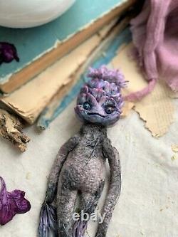 Teddy Jouet D'intérieur Fait À La Main Collectionnable Cadeau Fleur De Poupée D'artichaut Ooak Plant