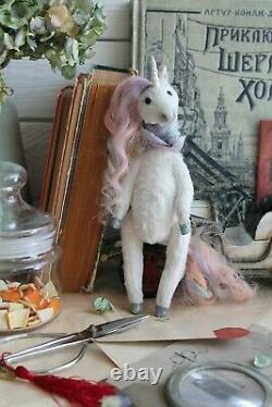 Teddy Jouet D'intérieur Fait Main Cadeau Collectionnable Poupée Animale Ooak Licorne Fée