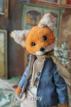 Teddy Main Intérieur Cadeau Jouet Poupée Animaux Collectables Ooak Fox Décor