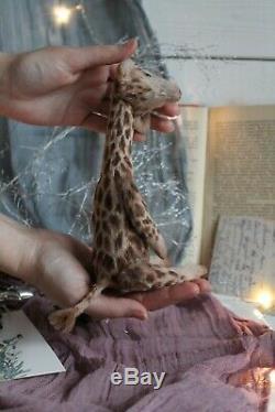 Teddy Main Intérieur Jouet Collectables Cadeau Animal Ooak Poupée Girafe Décor Ours