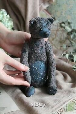 Teddy Main Jouet Collectables Cadeau Poupée Animaux Ooak Ours D'étoile Starry Night Sky