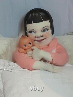 Tissu Artiste Poupée, 30 Ooak, Fait Main La Vie Des Enfants Comme Doll, Rare, Peintes À La Main