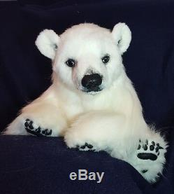 Vente Énorme Réaliste Ooak (24) Artiste Polar Bear Flinn Par Osomimoso