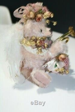 Vintage Ange Original Joan Woessner Artiste Teddy Bear Rose Mohair 1997