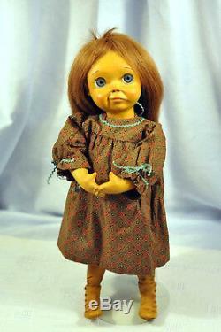 Vintage Artiste F Googly Doll Bois Bjb Marqué Sur Pieds Vgc Originale Rare