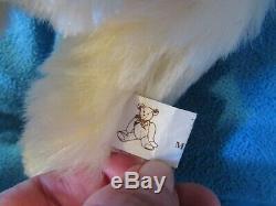 Vintage Blanc Mohair Ooak Artiste Fain Articulé Lapin 14 Ours En Peluche De Pâques