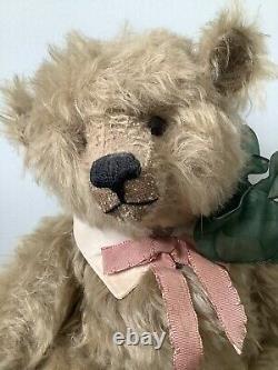 Vintage Charming Teddy Bear Handmade Par Ooak Artiste Pat Murphy 16 Mohair