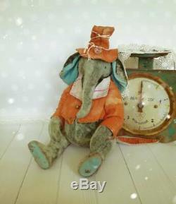 Vintage Elephant De Style Sans-abri Antique Peluche Antique Jouets En Peluche En Peluche Éléphant