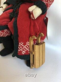Vintage Hand Made Noël Santa 14 Séance Signée Par L'artiste Withtag 1995 Ooak