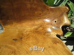 Vintage Moderne Unique Un-de-a-nature Que Ce Soit Solide Artiste Carved Teck Root Bois Chaise # 1