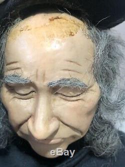 Vintage Ooak 16 Artiste Doll Hommes Withpocket Montre Papier Mâché Stockinette Corps